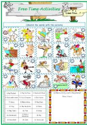 English Worksheets: Free Time Activities. Can you...?