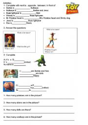 English Worksheet: toy story 3 activities