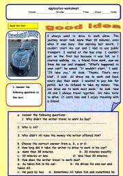 English Worksheets: good idea