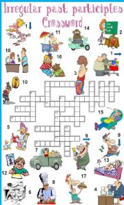 English Worksheets: Irregular past participles crossword