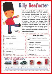 English worksheet: Billy Beefeater