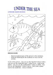 English Worksheet: STARTERS Exam - UNDER THE SEA