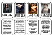 English Worksheets: Twilight main characters 1