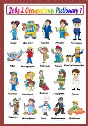 English Worksheets: JOBS & OCCUPATIONS PICTIONARY