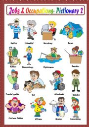 English Worksheet: JOBS & OCCUPATIONS PICTIONARY -2