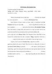 English Worksheets: Fantastic Four DVD Worksheet