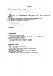 English Worksheet: ESL Lesson Plan (Summarizing specific information)