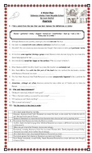 English worksheet: Sideways stories from Wayside School - Sharie ...