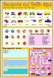 English Worksheets: Transport and Traffic