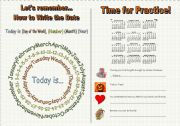 English Worksheets: Let�s Remember How to Write the Date (FULLY EDITABLE, B/W included)