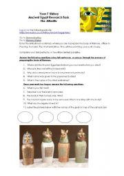 English Worksheet: Ancient Egypt Afterlife