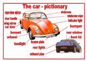 English Worksheet: The parts of the car - pictionary
