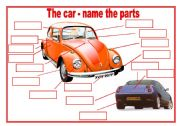 The parts of the car - fill in