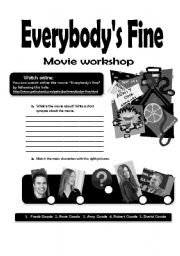 English Worksheets: Everybody�s fine movie workshop
