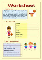 English Worksheets: Greg