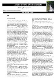English Worksheet: SHORT STORY AND EXERCICES ON ADDICTION