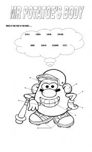 English Worksheet: MR POTATO