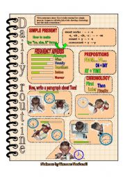 English Worksheets: Daily routines worksheet