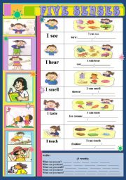 English Worksheet: FIVE SENSES