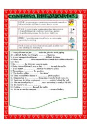 English Worksheet: CONFUSABLE WORDS 22: dodge-evade-shirk-duck/sway-influence-affect-impress