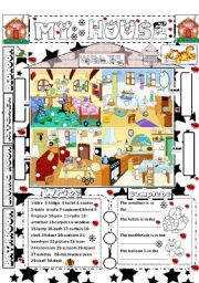 English Worksheets: My house: furniture and rooms.