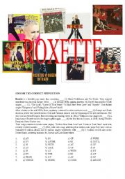 English Worksheet: ROXETTE - BIOGRAPHY