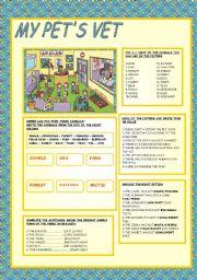 English Worksheet: MY PET�S VET