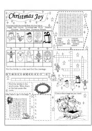 English Worksheet: Christmas Joy