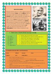Gandhi Movie Questions Worksheet Answers Furthermore Furthermore ...