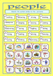 English Worksheets: ACTION VERBS :PEOPLE