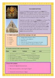 English Worksheets: antient egyptians