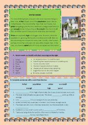 English Worksheets: british homes