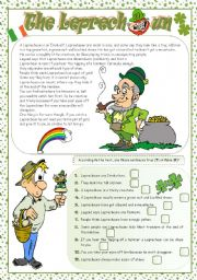 English Worksheets: THE LEPRECHAUN