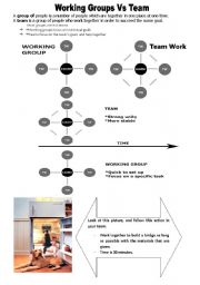 English Worksheets: Working in group Vs working in team