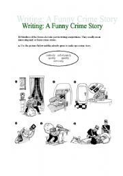 English Worksheets: WRITING CRIME STORIES