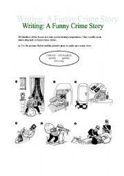 English Worksheet: WRITING CRIME STORIES