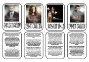 English Worksheet: Twilight saga main characters part 2