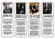 English Worksheet: Twilight saga main characters part 3