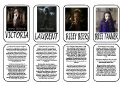 English Worksheet: Twilight saga main characters part 4