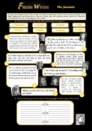 English Worksheets: Freedom Writers 6/7 the journals