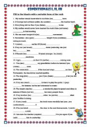 Conditional Sentences 1,2,3