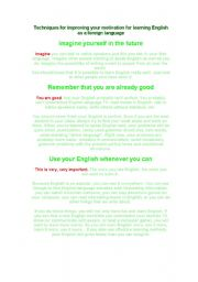 Printables Motivation Worksheets english teaching worksheets motivation techniques for improving your learning as a foreign language
