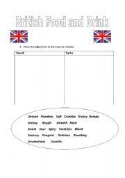 English Worksheet: British Food Tasting Lesson