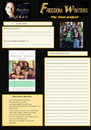 English Worksheet: Freedom writers 7/7 the final project