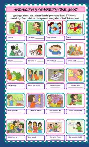 English Worksheets: HEAITHY/SAFETY/BE GOOD