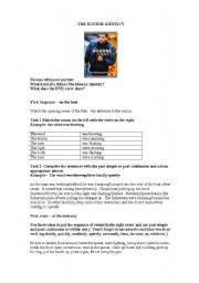 English Worksheets: The Bourne Identity
