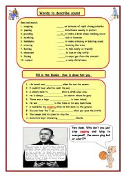 English Worksheets: Words to describe sound