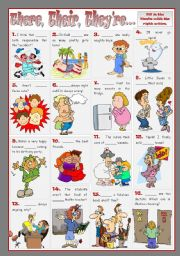 English Worksheet: THERE, THEIR, THEY�RE...