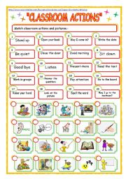 English Worksheets: classroom expressions!!