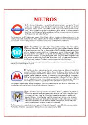 English Worksheets: Metros